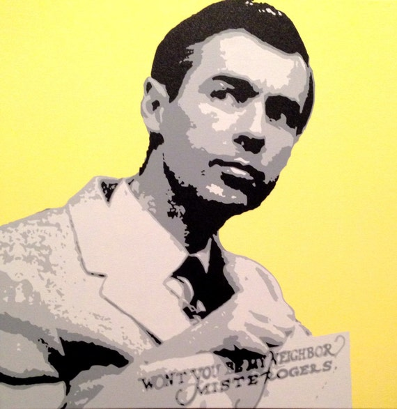 "Mister Rogers Custom Pop Art Painting 20""x20"" Canvas"