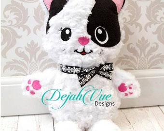 Kitty Bunny Stuffie ITH Embroidery Design