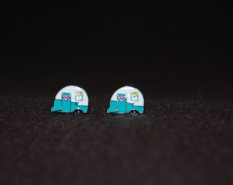 Vintage Camper Trailer Earrings ~ Unique Glamper Jewelry