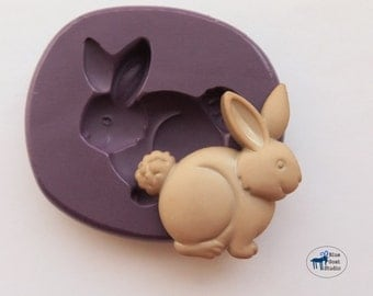 Rabbit Mold/Mould - Bunny Mold - Silicone Molds - Polymer Clay Resin Fondant