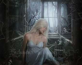 Gothic fantasy woman art print by Enchanted Whispers