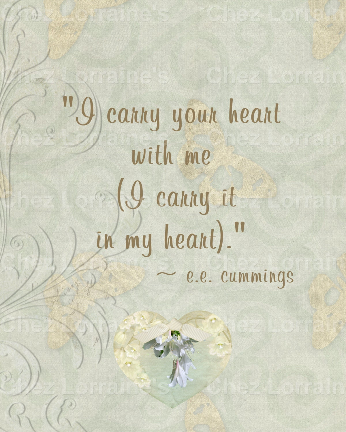 I Carry You In My Heart An Altered Fine Art Shabby Photographic
