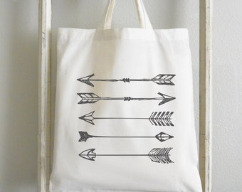 Arrows Tote Bag_reusable, grocery, cotton tote, gift for her, present, school bag, shopping