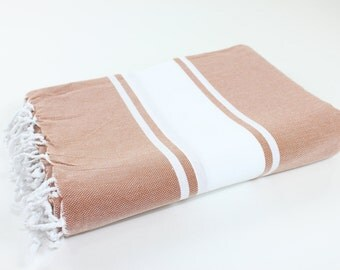 Beach Picnic Oversized Blanket, Beach Towel Blanket, Excellent Quality, 100% Turkish Cotton Brick