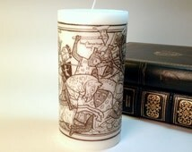 Knights in Battle Medieval Candle Black and White Woodcut Medieval Candle Medieval Knight Gothic Candle Renaissance Faire SCA Medieval Decor