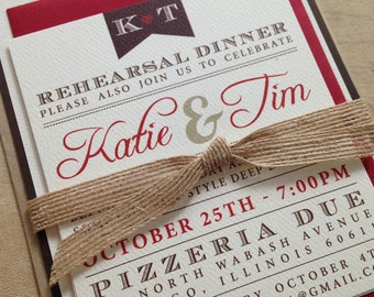 Vintage Wedding Invitations // Simple and Elegant Invite // Twine and Burlap // Purchase this Deposit Listing to Get Started