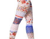 Multi  Colored Floral Leggings , Pattern Leggings , Printed Tights Sexy Pants