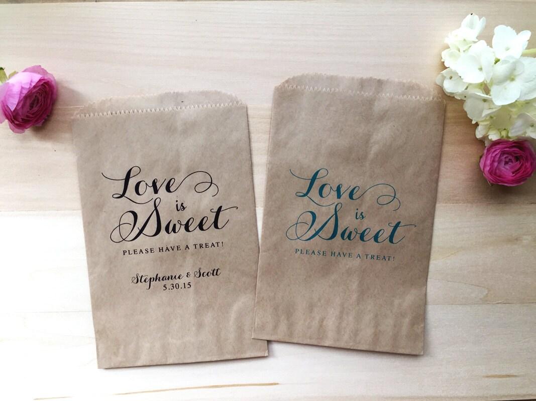Wedding Favor Bag Candy Buffet Bags Bar