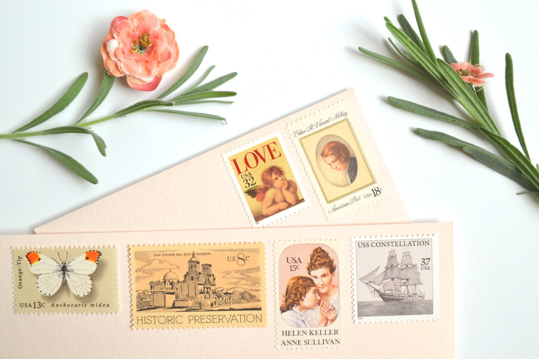 love wedding stamps vintage wedding wedding postage stamps zoom