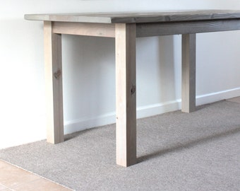 Lakehouse Reclaimed Wood Dining Table, Gray Dining Table