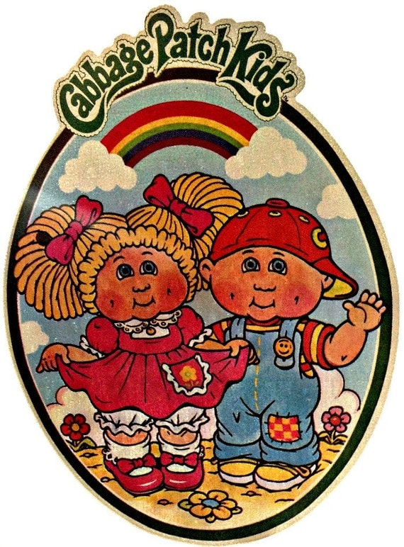 Cabbage patch kids vintage 70s t shirt iron on by for 70 s t shirt transfers
