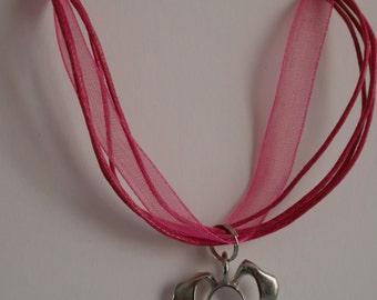 Bunny Pendant Ribbon Necklace