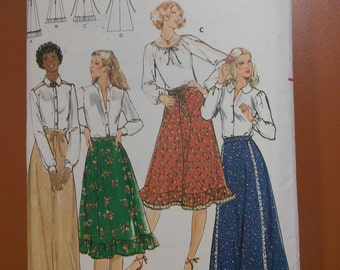 Butterick 5657 Maxi Skirt Prairie Country Vintage Sewing Pattern 1970s 70s Size 26 1/2