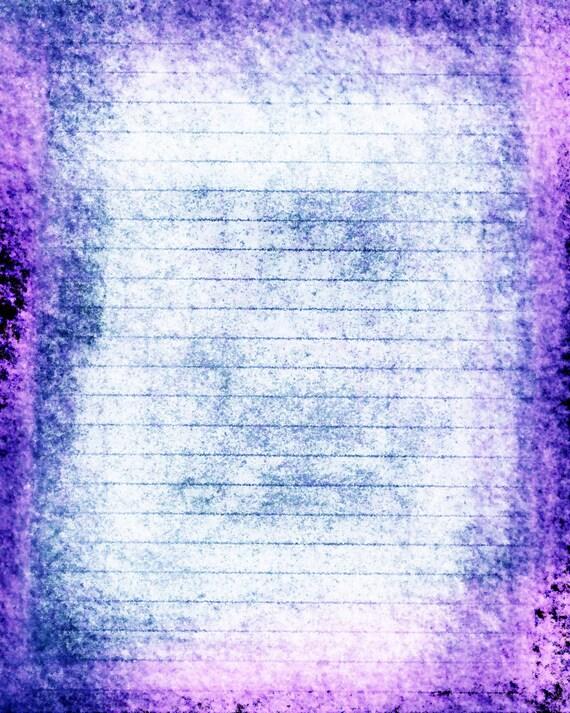 Printable Journal Page Instant Download Blue Purple Digital