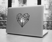 Heart low poly macbook pro and air stickers decal for 13,15,17""