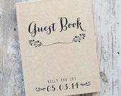 Wedding Guest Book Wedding Guestbook Custom Guest Book Personalized Customized rustic wedding keepsake wedding gift guestbook rustic unique