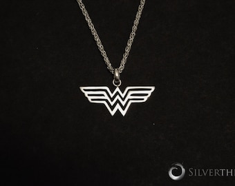 Wonder Woman, Solid Sterling Silver Pendant