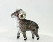 Aries Sheep Ram Animal Totem Figurine Sculpture, Animal magic spirit amulet