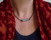 PRICE REDUCTION!!  Unisex choker necklace made using a fragment of clay pipe collected from the River Thames