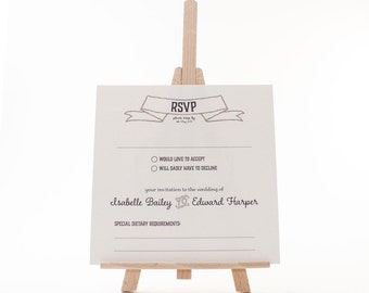 Wedding Invitation: RSVP Card - Estelle - Vintage Eat, Drink and be Merry