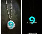 Hearth inspired glowing stone necklace