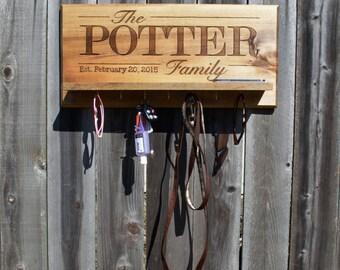 Family Name Entryway Shelf and Key Holder