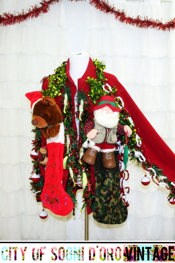 Ugly christmas sweater mens ugly xmas sweater fishing themed for Fishing ugly christmas sweater