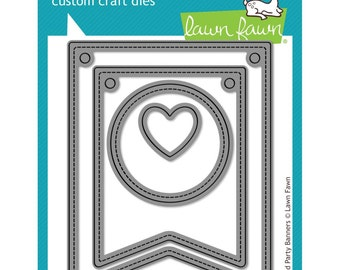 Lawn Fawn Cuts Custom Craft Die Stitched Party Banners