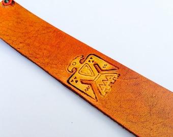 Leather Bookmark - Southwestern Eagle