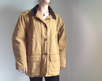 Women's Tan Canvas Work Jacket - XL