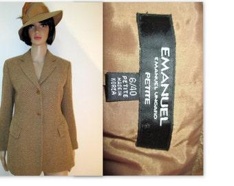 Oversized Blazer, Menswear inspired blazer, Boyfriend blazer, Emanuel Ungaro blazer