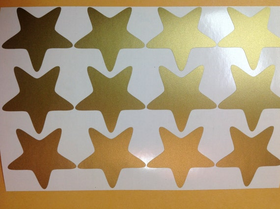 Gold Star Wall Decor: Gold Stars Wall Decal-5 Point Star Wall Decals Art For Baby