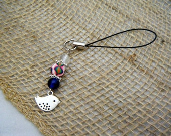 Cell Phone Lanyard with Bird Charm