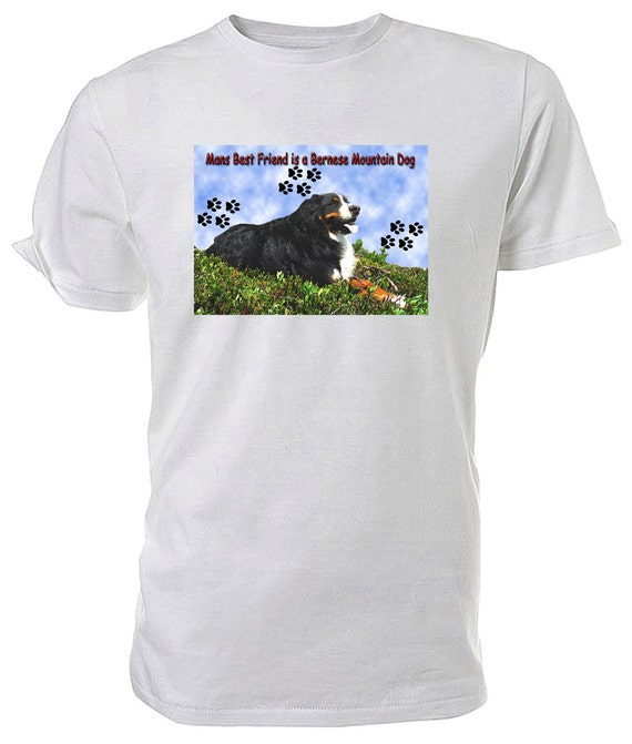 Bernese Mountain Dog T shirt. classic round neck short sleeved choice of sizes and colours
