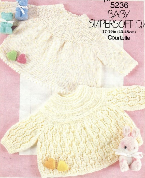 Free Knitting Patterns For Angel Babies : KNITTING Pattern 2 Baby ANGEL TOPS 17-19 43-48cm by ...