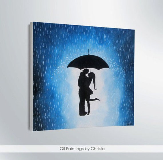 Easter Gift On Sale Couple Under The Umbrella Painting-wall