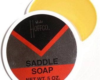 HOFFCO SADDLE SOAP Clean Polish Condition Softener Leather Boot Shoe tack Conditioner & Cleaner 5 ounce