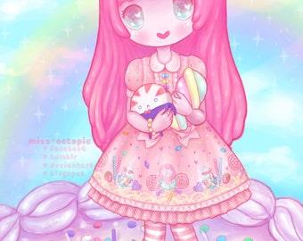 "Art Print ""Princess Bubblegum Lolita"""