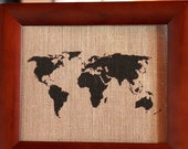 WORLD Burlap Art Print