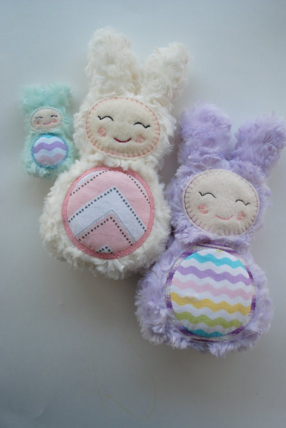 Ith bunny stuffie machine embroidery design in the hoop