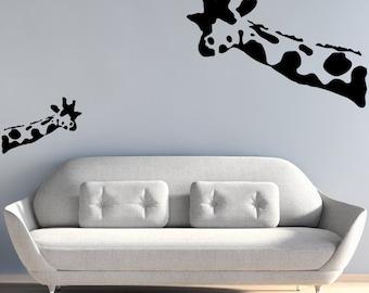 Banksy Wall Decal - Wait What Giraffe Wall Stickers - Banksy Sticker - Banksy Art - Gifts For Her - Gifts For Him - BA032