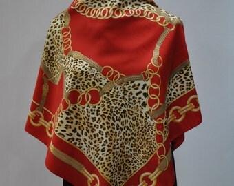 Vintage PRINTED scarf ...(663)