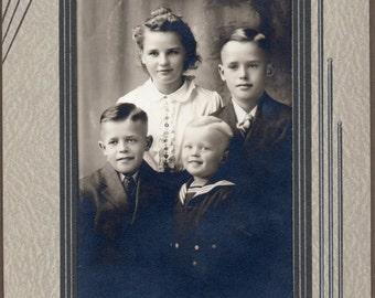 Vintage Photo of Cute Siblings