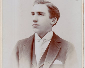 Antique Photo of Very Handsome Young Man