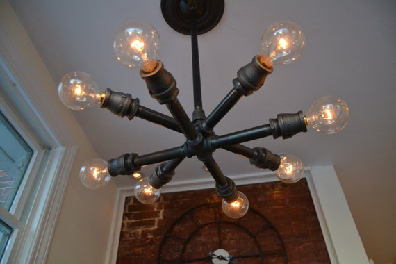 Ceiling Sputnik Fixture Steampunk Light Industrial Light