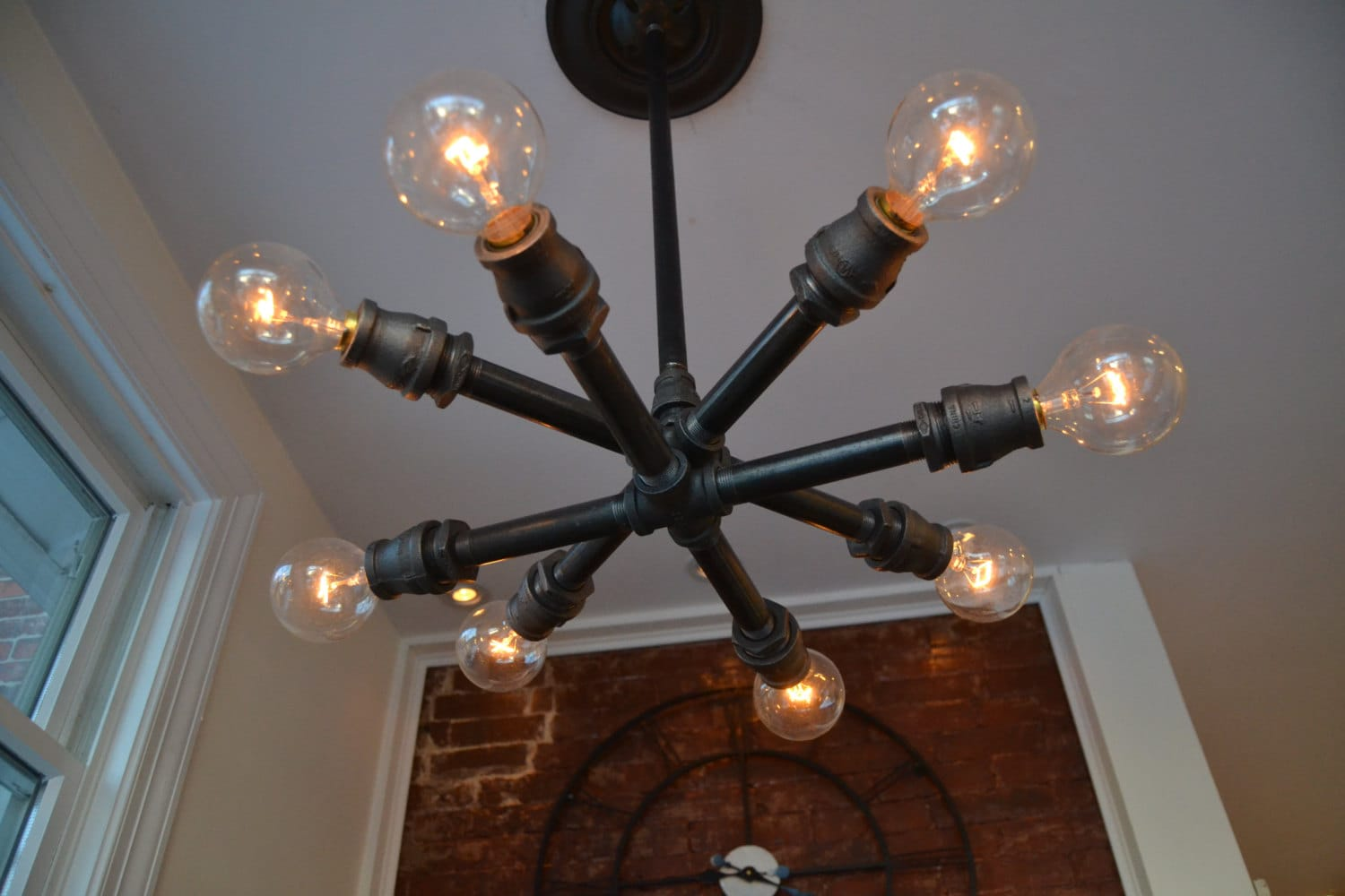 Ceiling Sputnik Fixture Steampunk Light Industrial Light