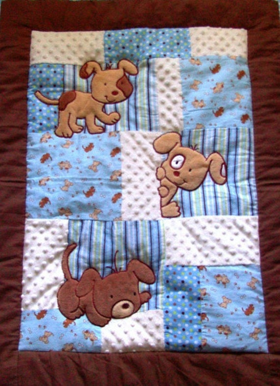 Puppy Baby Blanket 34x42 Baby Blanket Puppy Baby Quilt