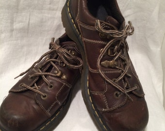 Brown Leather Dr. Marten Oxfords Men's UK Size 9 and US Size 9.5 - 10   Made in England