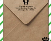 Custom return address stamp - personalized self inking stamp - your choice of Smooshface dog breed