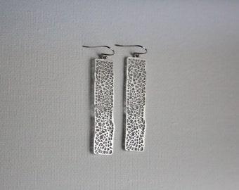 Silver Stone Slate Earrings, Gift for Her, Wife, Girlfriend, Best Friend